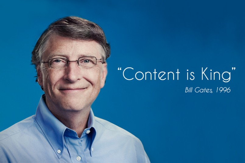 Bill Gates: Content is King