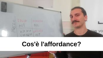 Che cos'è l'affordance?